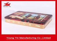 Large Rectangle Cookie Packaging Gift Tins Box With CMYK Printing Shiny Finish