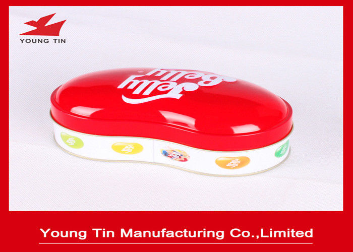 0.23 MM Colored Holiday Candy Gift Tin Containers Personalised For Children