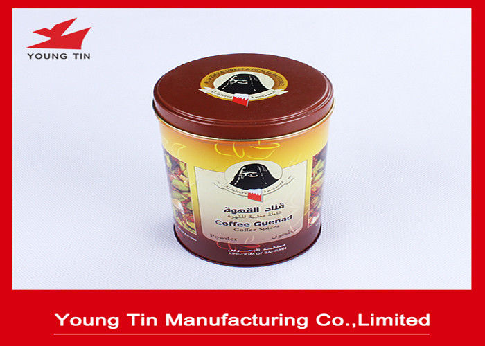 Full Color Printing Empty Metal Coffee Tins With 0.23 MM Tinplate Material YT1191